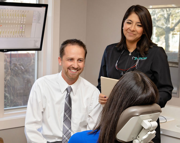 Centre Family Dentistry | Dr. Humbert and patient